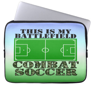 Combat Soccer Laptop Sleeve