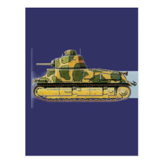 Combat Tank Postcard