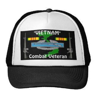 Combat Vet Vietnam Ball Cap 1/b Mesh Hats