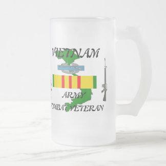 Combat Veteran Vietnam Frosted Mug