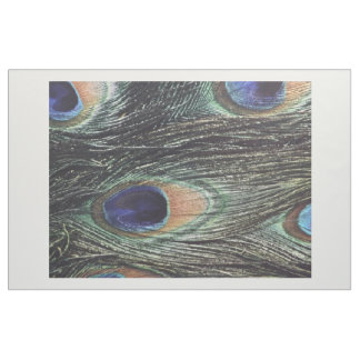 """Combed Cotton (56"""" width) Fabric Peacock Print"""