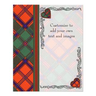 Combich clan Plaid Scottish kilt tartan 11.5 Cm X 14 Cm Flyer