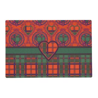 Combie clan Plaid Scottish kilt tartan Laminated Place Mat