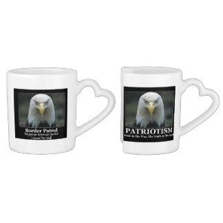 Combination Patriotism & Border Patrol Set Coffee Mug Set