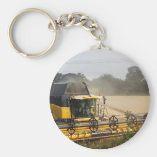 Combine harvester basic round button key ring