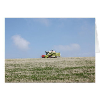Combine Harvester Card