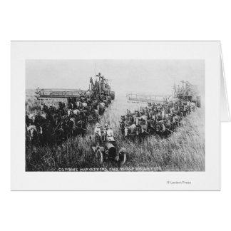 Combine Harvester Scene Card