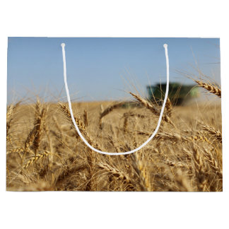 Combine in Wheat Field Large Gift Bag