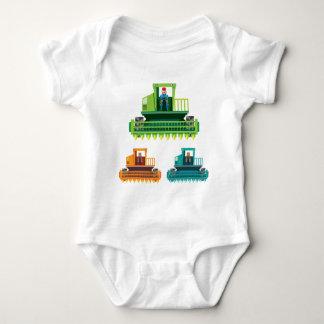 Combine with farmer inside Vector illustration Baby Bodysuit