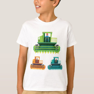Combine with farmer inside Vector illustration T-Shirt
