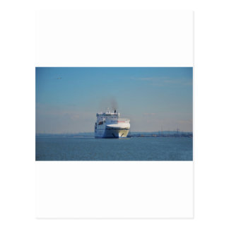 Combined Ferry And Container Ship Postcards