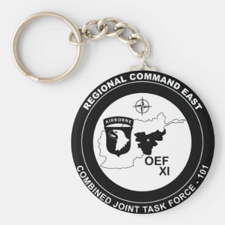 Combined Joint Task Force 101 East - B/W Basic Round Button Key Ring