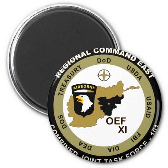 Combined Joint Task Force - Regional Command East 6 Cm Round Magnet