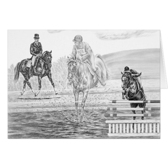 Combined Training Eventing Art by Kelli Swan Card
