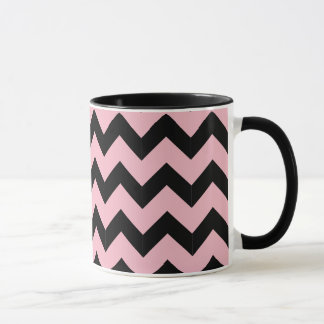 Combo 11oz Black & Pink Zig Zag Mug