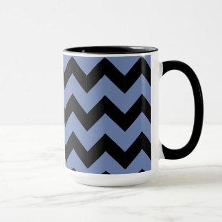 Combo 15oz Black & Blue Zig Zag Mug
