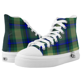 Combo Plaid High-tops Printed Shoes