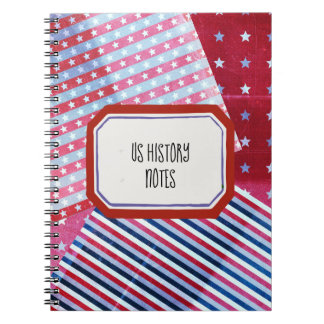 Combo Red White and Blue Patterns Notebook