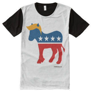 Combover Democrat All-Over Print T-Shirt