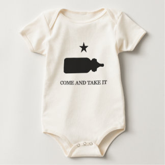 Come and Take it Bottle Black Baby Bodysuit