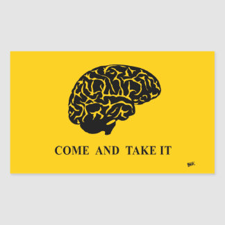 Come and Take It (Brain) Rectangular Sticker