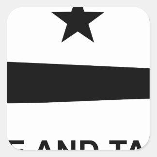 Come and take it flag.jpg square sticker