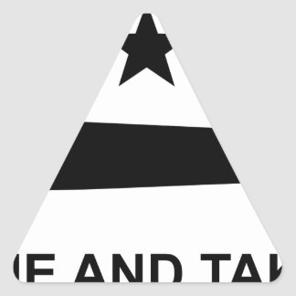 Come and take it flag.jpg triangle sticker
