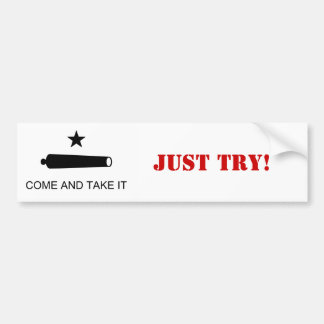 Come and Take it....Just try! Bumper Sticker