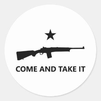 COME AND TAKE IT - Mini-14 Ranch Rifle (No. 4) Round Sticker