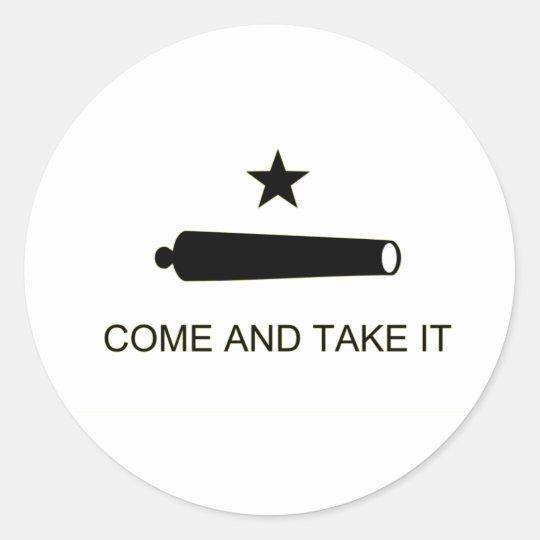 Come and Take it Round Sticker