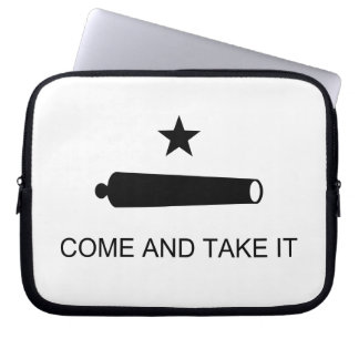 Come And Take It Texas Flag Battle of Gonzales Laptop Sleeve