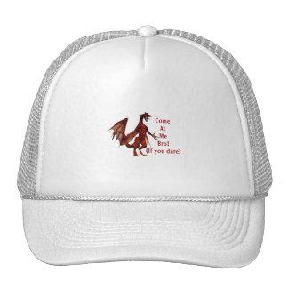 come at me bro dragon red mesh hats
