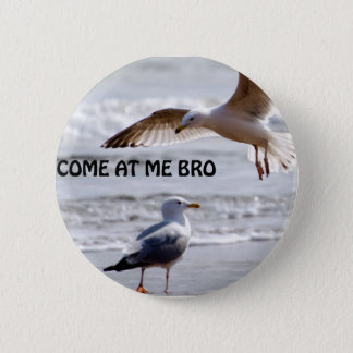 Come at me bro! Seagull Version 6 Cm Round Badge