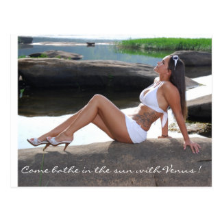 Come bathe in the sun with Venus ! Post Card