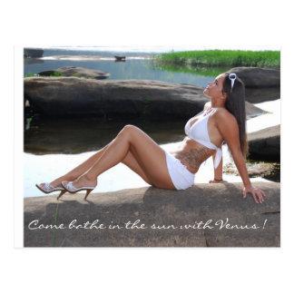 Come bathe in the sun with Venus ! Postcard