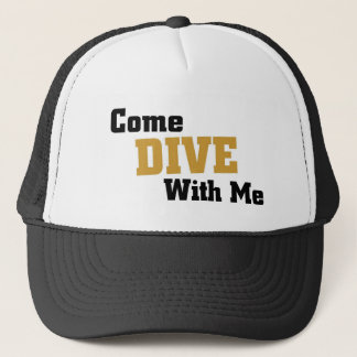 Come dive with me trucker hat