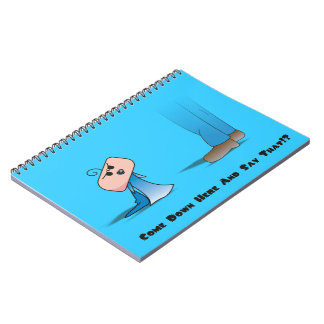 """""""Come Down Here"""" Notebook - A Angry Baby Design"""