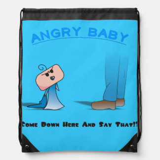 """Come Down Here"" String Bag - A Angry Baby Design"