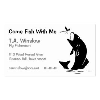 Come Fish With Me Double-Sided Standard Business Cards (Pack Of 100)