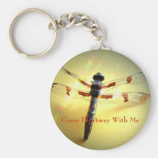 Come Fly Away With Me Basic Round Button Key Ring