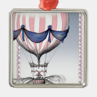 come fly with me, tony fernandes Silver-Colored square decoration