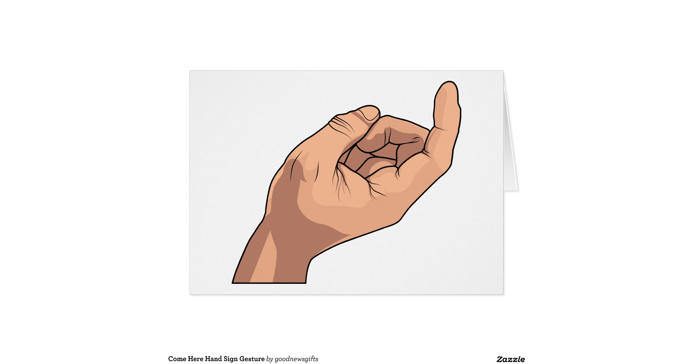 Come Here Hand Sign Gesture   Zazzle