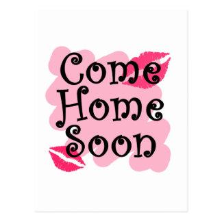 come home soon postcard