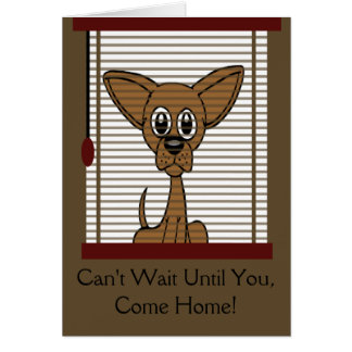 Come Home Soon Puppy Greeting Card