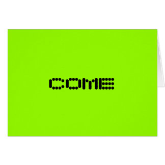 COME III NOTE CARD