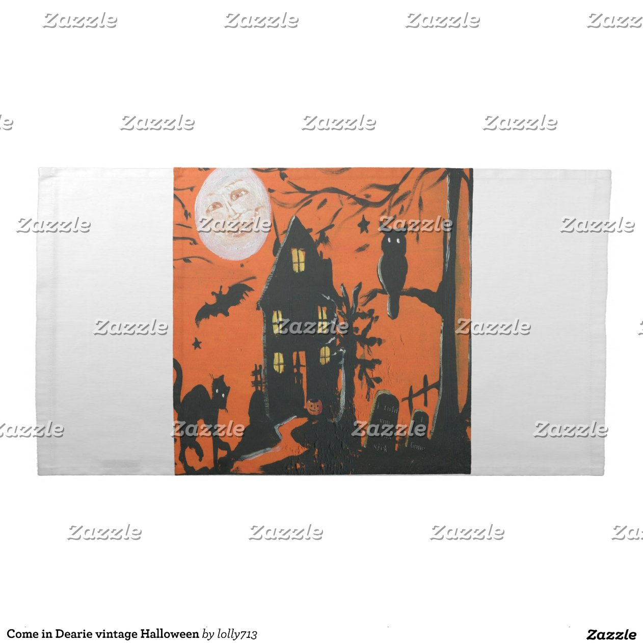 Come in dearie vintage halloween cloth napkins zazzle for Halloween cloth napkins