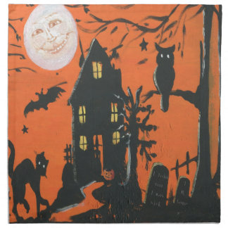 Come in Dearie vintage Halloween Printed Napkin