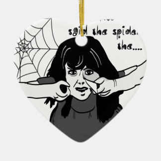 Come into my parlour Spider Baby... Ceramic Heart Decoration