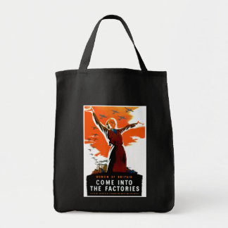 Come Into The Factories Grocery Tote Bag