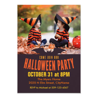 Come Join Our Halloween Party Photo Card